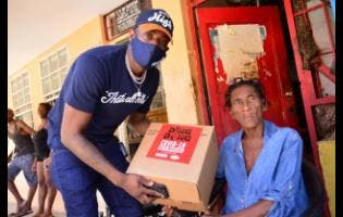 Ding Dong delivers a package to senior citizen Faith Parkinson.