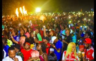 Patrons enjoying Igloo Cooler fete in Negril, part of Dream Weekend.