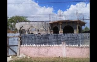 Photo shows the ground floor of the gigantic house being built for Bishop Winston Baker, at Rose Street, in Savanna-la-Mar, Westmoreland, which has received backlash from some persons.
