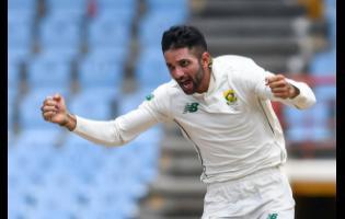 South African spinner Keshav Maharaj took a hat-trick in his five-wicket haul.