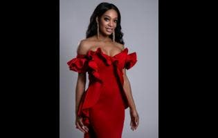 Lawnda Jackson in a dress by Hermilia Yves.