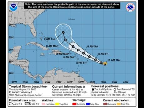 Tropical Storm Kyle forms as Josephine heads for Bermuda