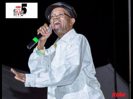 LUCIANO, RICHIE STEPHENS, LUKIE D, BERES HAMMOND, SANCHEZ AND TONY CURTIS, NAMED AMONG THE TOP 5 MALE SINGERS IN JAMAICA BY THE STAR NEWSPAPER!