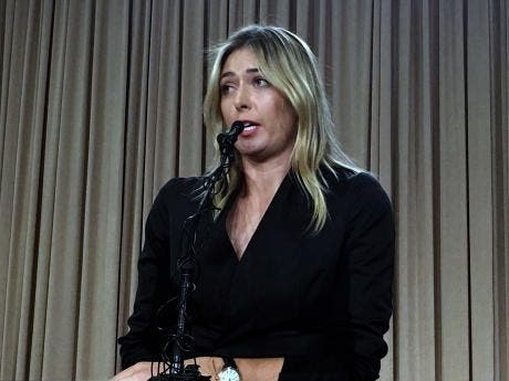 WADA decide not to appeal to CAS over Sharapova ban