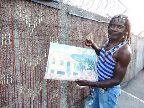Wynter says he sells craft items in order to take care of his family.