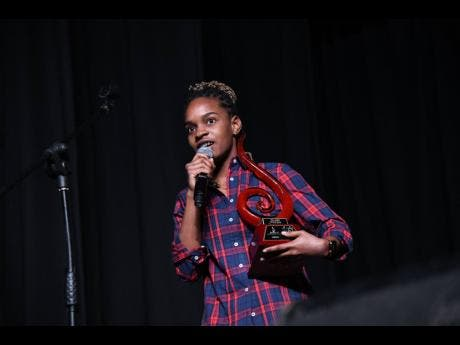 Koffee responds after taking the for song of the year award for 'Toast'.