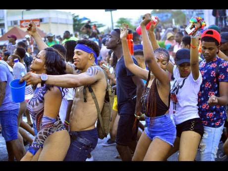 Soca lovers having a grand time.
