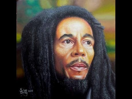 This Bob Marley painting was a big seller for Scion Derby.