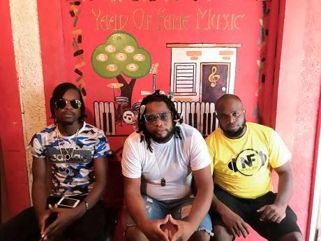 The team behind the song 'Baby Skank' (from left) Halonai, Money Locks and Neako Fire.