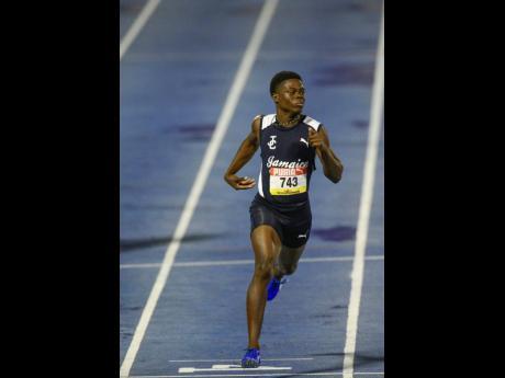 Jamaica College's Class Three 100 metres record- breaker Christopher Scott.