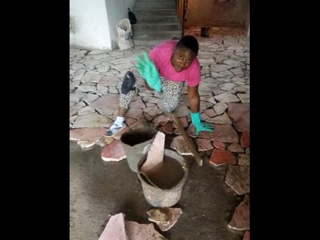Veniesha Dennis gave up her career as an early childhood teacher to work with concrete.