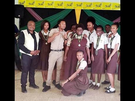 Members of the Black River High team.