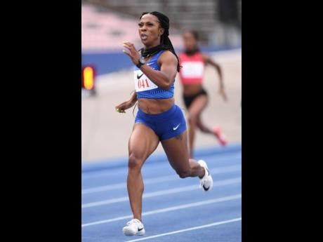 Shelly- Ann Fraser- Pryce registered 23.07 seconds in her first 200m in three years at the Nike Seniors Link Up Track Meet on Saturday.