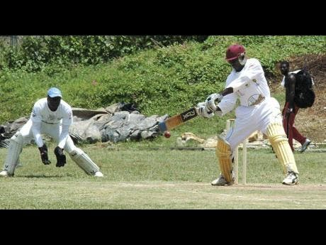 Cricketers in action during the 2018 Social Development community cricket competition.