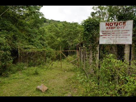 The gates to the gold mines in Pennants, Clarendon, has been closed for some time now.