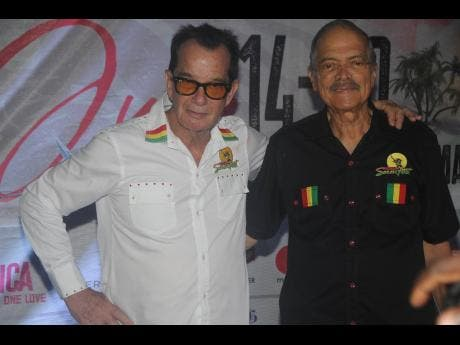 Reggae Sumfest CEO Joe Bogdanovich (left) and director Robert Russell hanging out at the festival's Montego Bay launch party.
