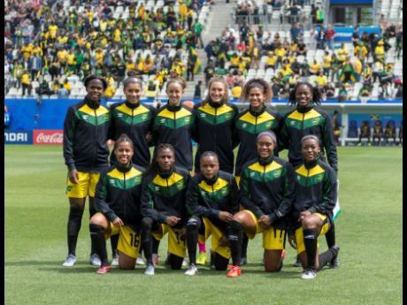 Jamaica's starting eleven vs Brazil.