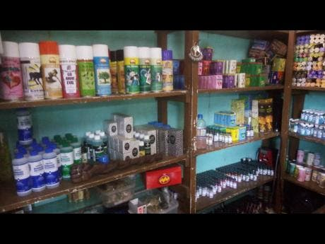 Photos shows the various oils, sprays, herbs and soaps sold in one candle shop in Montego Bay. The operator says these items are here to uplift Jamaicans and not to cause harm.