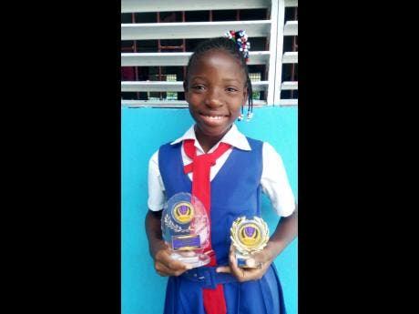 Eleven-year-old Valena Thompson is a top-performing student.