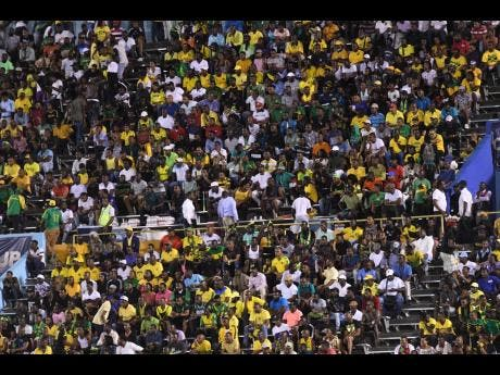 Droves of fans turned up at the National Stadium last night to witness Jamaica's first Gold Cup match at home.