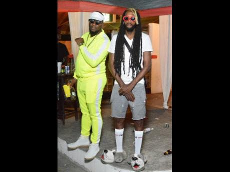 Danehall artist Shizzle Sherlock (right) and New York promoter, Nuh Respone twin