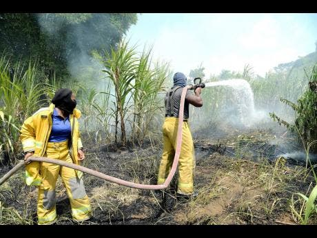 Hartland Road residents and St Mary firefighters say the community needs a regular supply of water to tackle the bush-fire problem.