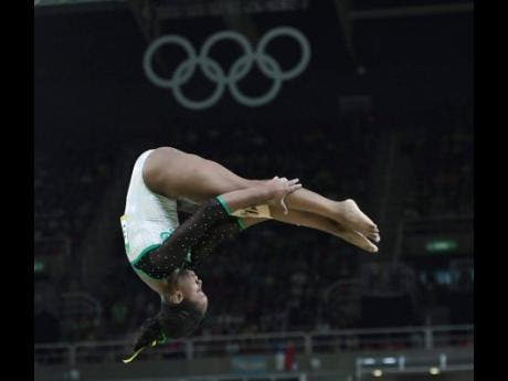 Toni-Ann Williams in full flight while competing at the Rio 2016 Olympics.