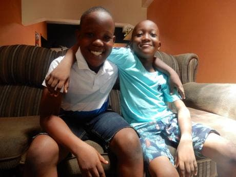 Jacquese (right) with his brother Javier Jones who sometimes cares for him.