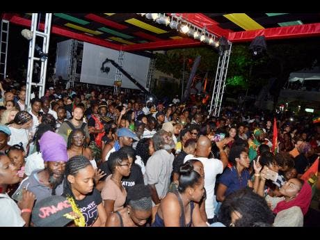 Patrons at the Catch A Fire Concert held at the Bob Marley Museum on February 6.