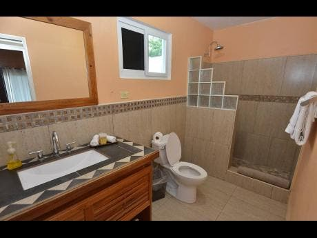 One of the immaculate bathrooms.
