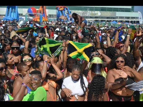 Of course, the Jamaicans had to be there to represent.