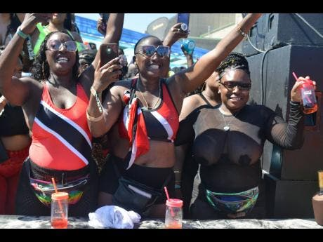 Members of the Trini posse  showing their colours.