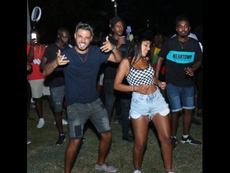 Shoham yaakov and  Shahak Nathan at Reggae Sumfest street dance in Montego Bay, St James.