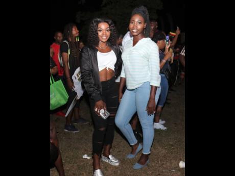 Tiffany Allen and Kirra Mckenzie at Reggae Sumfest street dance in Montego Bay, St James.