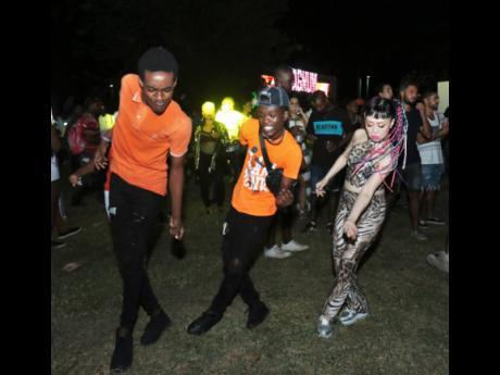 Dancers at Reggae Sumfest street dance in Montego Bay, St James.
