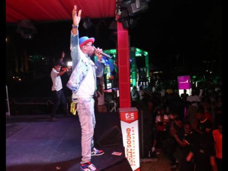 Foota Hype in full flight at Reggae Sumfest street dance.