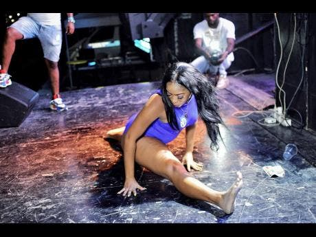 Ali Dream Dolllz shows off her dancing skills.