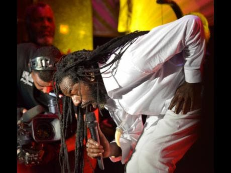 Buju Banton performing at his Long Walk to Freedom concert at the National Stadium on March 16.