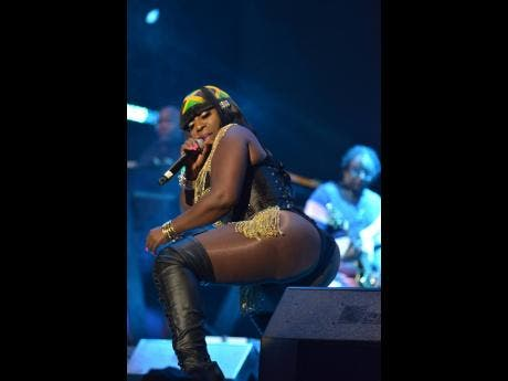 Spice performs on Festival Night 1.