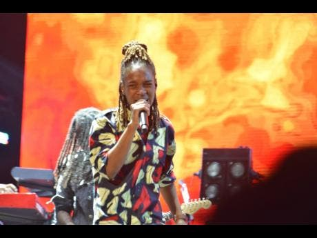 Koffee performs for the first time on the Reggae Sumfest stage.