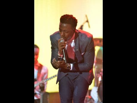 Romain Virgo thrils Sumfest fans with some of his hit songs.