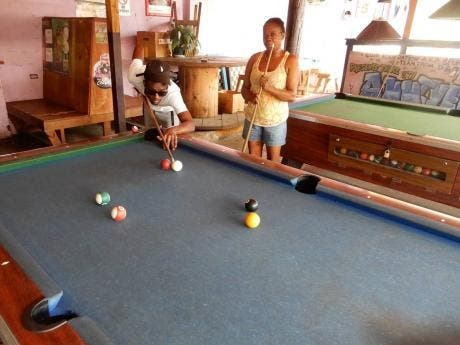 A game of pool is always on at Foundation Bar.