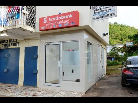 The only ATM machine in Alexandria, St Ann, that serves several communities, is constantly out of use.