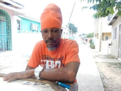 Steve Richards, the Rastafarian who was beat down by a pastor in Arnett Gardens, St Andrew, last week.