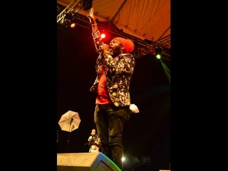 Central Jamaica star, Fantan Mojah performs at Summa Sizzle on Saturday. The artiste, whose given name is Owen Moncrieffe, was born in White Hill, St Elizabeth.