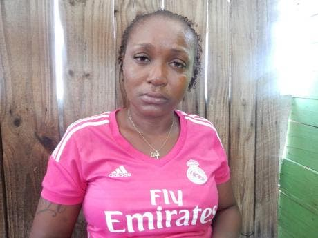 Tracy Ann Martindale, mother of Andrae Edwards, who was killed by the police in Rema, St Andrew, yesterday.