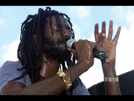 Buju Banton in his element at Reggae Sunsplash 2006.
