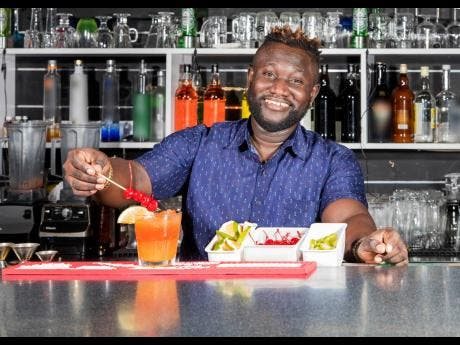 Antonio Barnett says a bartender sometimes take on the job of a counsellor.