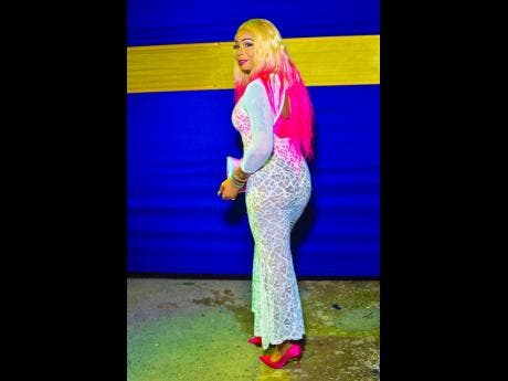 Dancehall artist Lisa Hyper dazzles in this designer dress.