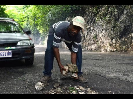 Leonardo Cushnie said that if he given the resources, he would volunteer his time fixing roads across the country.